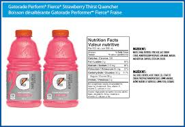 gatorade perform fierce strawberry thirst quencher new