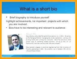 Free Short Professional Bio Template Microsoft Word Example