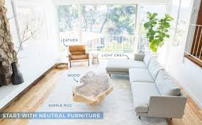 Neutral furniture Comfortable How To Add Style To Neutral Living Room Step Emily Henderson How To Add Style To Neutral Living Room Get The Look Emily