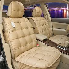 name universal real sheepskin car seat cover leather wool auto cushion 4pcs sets beige
