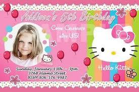 Hello Kitty Party Invitation Hello Kitty Birthday Party Invitation 1st Polka Dots Pink Invites 9 Designs Ebay