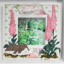 Small Picture Marianne Design Cutting Sheet Tinys English Garden Foxgloves