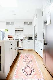 kitchen rugs. White Kitchen With Peach Rug : Cleaning Ways For Rugs