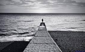 alone boy hd wallpaper black and white