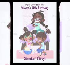 sleepover template 13 creative slumber party invitation templates designs free