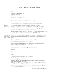 Letter Of Intent To Return Work After Maternity Leave Template