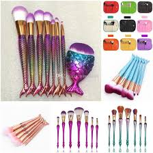 6 7 mermaid makeup brushes big fish l foundation powder eyeshadow make up brushes contour blending cosmetic brush kit dhl free makeup palettes makeup