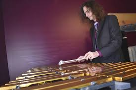 james stuebing plays a vibraphone in his home in new glasgow he is offering an