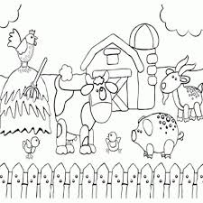 Printable Preschool Coloring Page Of Happy Farm Animals Fun Book