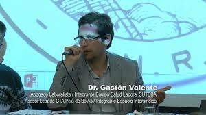 Resultado de imagen para Gastón Valente/ abogado Espacio Intersindical