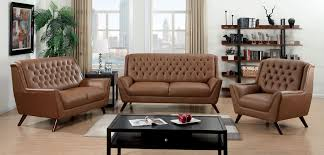 13 Photos Gallery of: Installing Button Leather Tufted Sofa