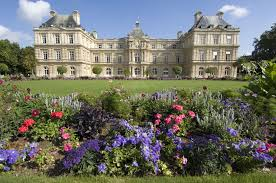 senate palace in the luxembourg gardens paris france