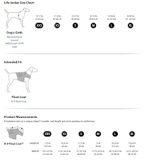 Size Chart For Ruffwear Apparel