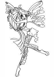 Sirenix Bloom Kleurplaat Gratis Kleurplaten Printen