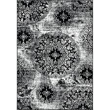 black and white area rugs rug 5x7