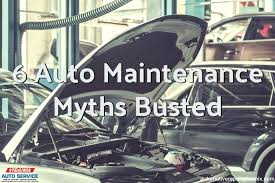 virginia auto glass here are six common auto maintenance myths alexandria va auto glass repair