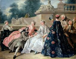 french elegance how did women dress in the th century  jean francois de troy the declaration of love 1731 schloss charlottenburg
