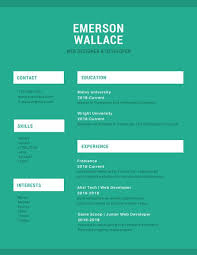 simple resume website green and white simple resume templates by canva