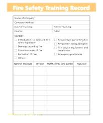 Employee Training Record Logs Forms Free Register Template