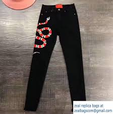 gucci pants. gucci snake embroidered stretch denim skinny pants 456957 2017 i