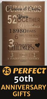 50th anniversary gifts looking for a fabulous golden wedding anniversary gift for your pas
