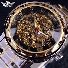 mens transparent watches reviews online shopping mens transparent gold watch men watches top brand luxury relogio male clock men casual watch montre homme mechanical skeleton watch