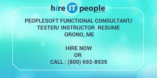 People Soft Consultant Resume Gorgeous PeopleSoft Functional ConsultantTesterInstructor Resume Orono ME
