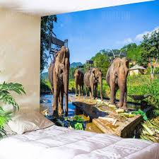 thailand s elephants print wall hanging tapestry 10 96 free gearbest com