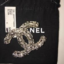 chanel pin. chanel jewelry - chanel brooch pin silver z3648 new a