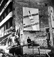 marshall plan  construction in west berlin the help of the marshall plan after 1948 the plaque reads emergency program berlin the help of the marshall plan