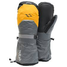 Rab Glove Size Chart Rab Expedition 8000 Mitts Gloves Gold Grey Shark S