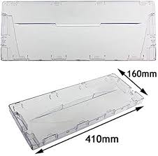 Spares2go Plastic Drawer Flap Front <b>Handle</b> for Indesit <b>Fridge Freezer</b>