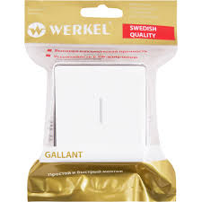 <b>Выключатель накладной Werkel</b> Gallant 1 клавиша с подсветкой ...