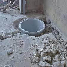 placing a sump pit in a cochranton home