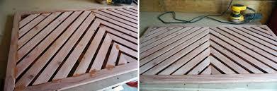applying wood filler to gaps in the diy wooden doormat