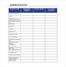 small business budget examples small business budget templates 10 free xlsx doc pdf
