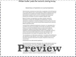william butler yeats the second coming essay college paper  william butler yeats the second coming essay essay writing guide poem analysis the second