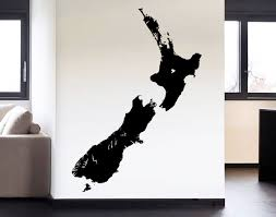 new zealand silhouette on decal wall art nz with new zealand silhouette your decal shop nz designer wall art