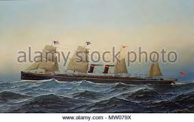 Ss Antonio - Alaska Photo Line Jacobsen 1881 570 guion 213997308 Alamy Stock
