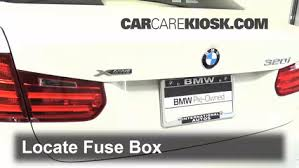 interior fuse box location bmw i bmw i  locate interior fuse box and remove cover