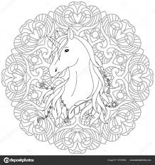 Unicorn Tattoo Kleurplaat Stockvector Kronalux 172153554 For