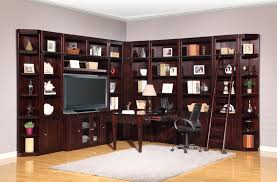 Mahogany finish home office corner shelf Wood Veneer Bookshelf Cabinets Living Room Parker House Boston Corner Bookcase Unit Wayside Furniture Collections Bos Owu Home Office With Hutch Library Beljackets The Fantastic Fun Home Office Bookcase Ideas Beljackets