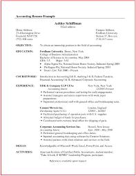 Accounting Intern Resume Samples Inspirational Sample Resume Canada