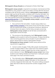 Cited Essay Examples Work Cited Example Cover Letter