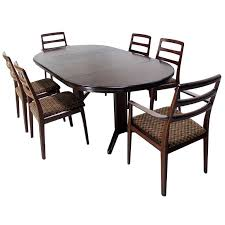 danish mid century modern rosewood round dining table set round glass dining table with 6 chairs