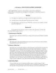 Website Design And Development Contract Template Web Development Contract Developer Centered Web