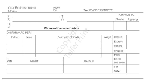 Consignment Form Template Consignment Note Dl 001 Dispatch Note