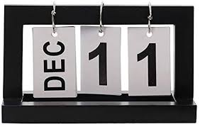 Flip Chart Perpetual Calendar Wooden Chic Office Home
