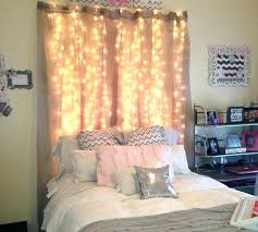bedroom curtains behind bed. Curtain Behind Bed With String Lights Bedroom Best Ideas On Dorm Room Curtains