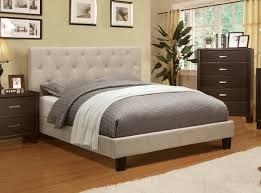 diy upholstered bed. Ivory Fabric Tufted Upholstered Bed Frame - CA7200F-IV Diy